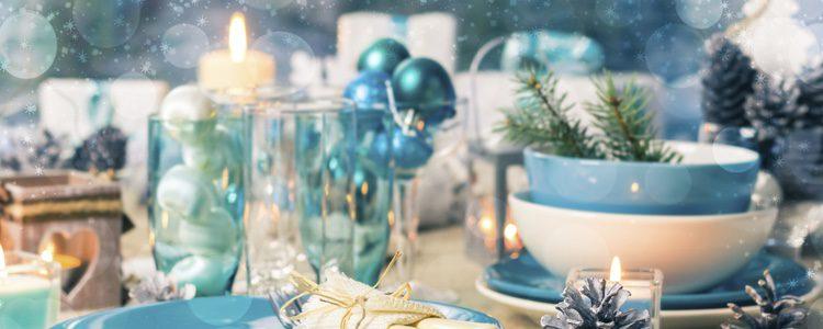 Mesa de Navidad lista