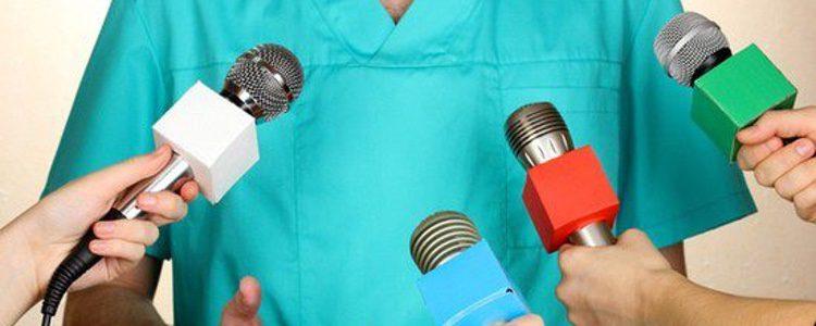 Médico prensa