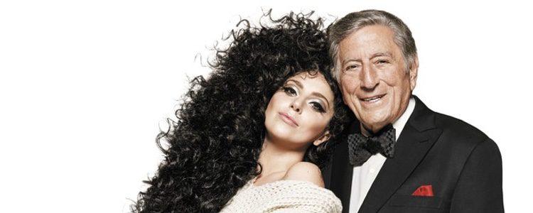 Lady Gaga y Tony Bennett posan para la campaña de Navidad de H&M
