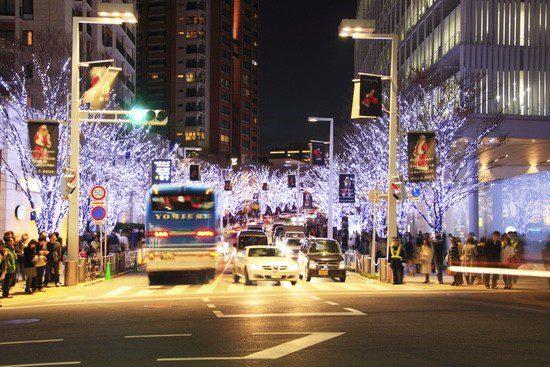 Roppongi, la zona más marchosa de Tokyo, ilumuniada por Navidad