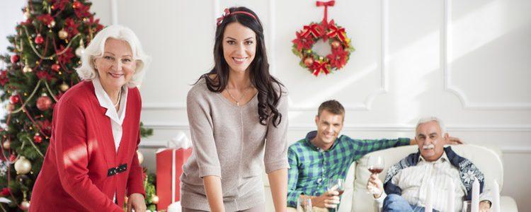 Una familia en Navidad