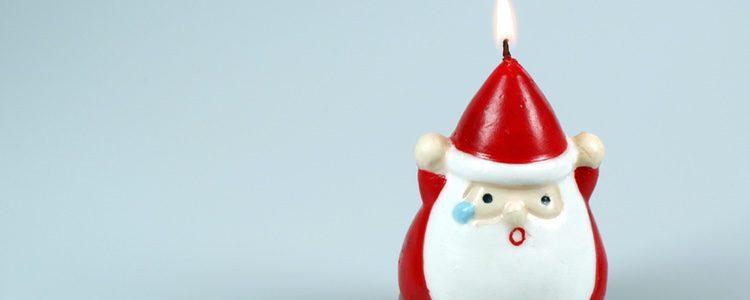 Las velas de Papá Noel son las más típicas
