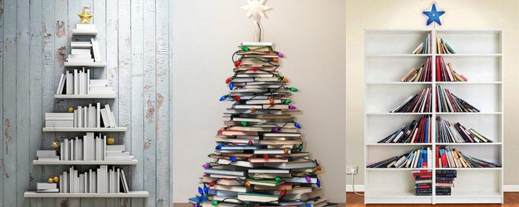 Árbol 5: Un diseño para estar en la pared, con los libros apilados o en estanterías