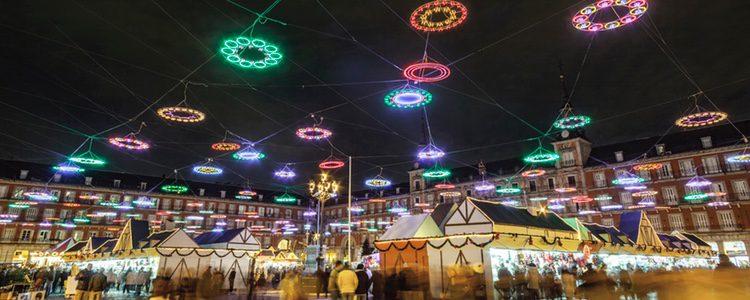 El mercado navideño de Madrid es uno de los más grandes del país