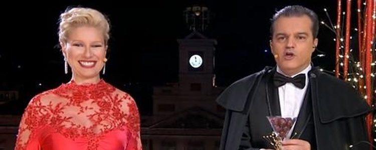 Ramón García y Anne Igartiburu presentando las Campanadas