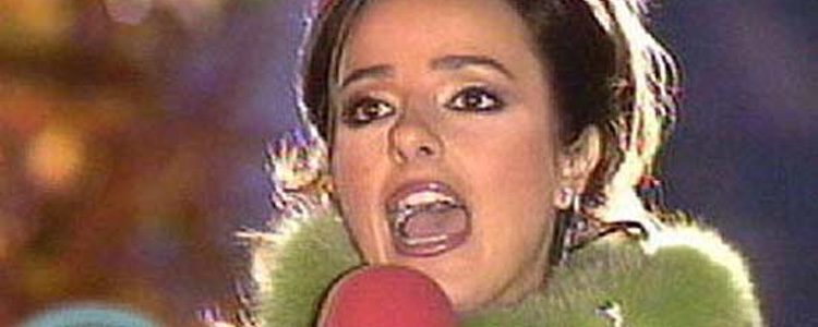 Carmen Alcayde presentando las Campanadas