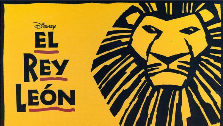 Cartel del musical del Rey León