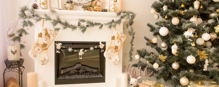 Una de las imágenes más bucólicas de la Navidad es la chimenea