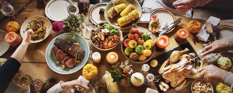 Acción de Gracias se celebra para dar las gracias después de un año de cosechas y beneficios