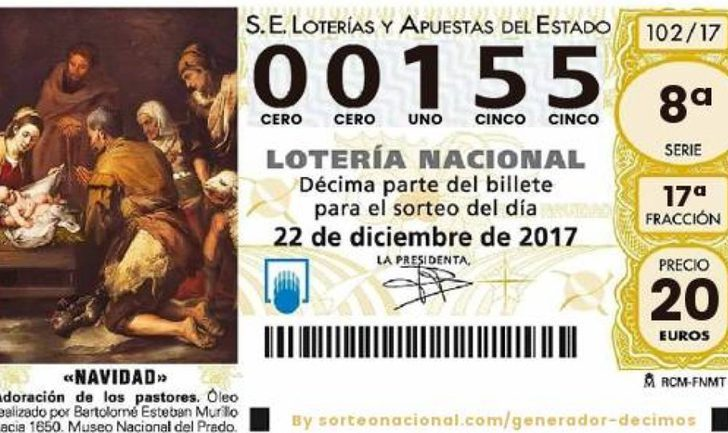 El 155, el número que todo el mundo quiere para la Lotería de Navidad