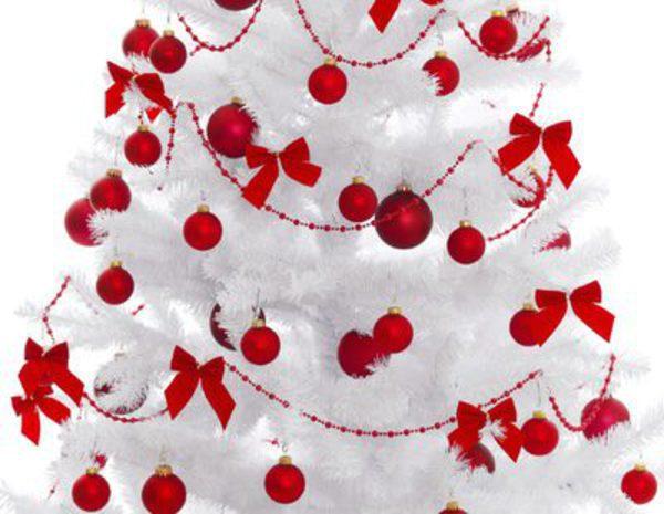 Rboles de navidad blancos una alternativa al verde - Arbol de navidad en blanco ...