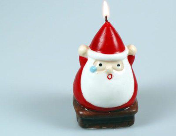 decoracin navidea con velas angelitos y pap noel