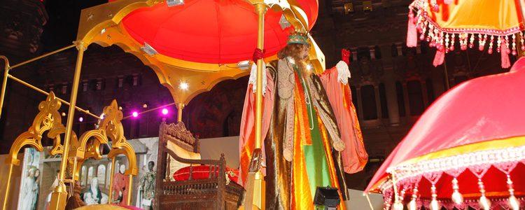 El Rey Gaspar en la Cabalgata de Reyes de Madrid 2015