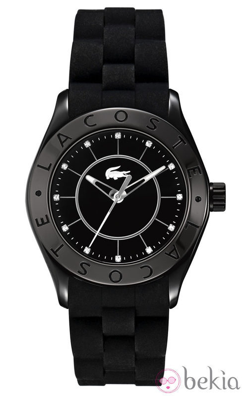Reloj de mujer con correa de silicona en color negro de Lacoste Watches
