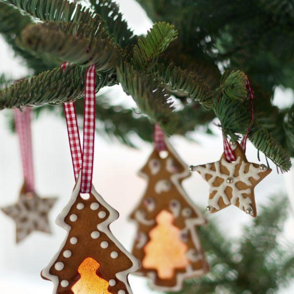 Galletas navideñas para decorar el árbol de Navidad