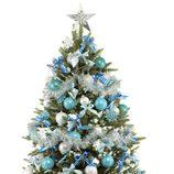Árbol de Navidad azul y plata
