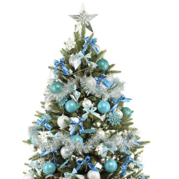 Rbol de navidad azul y plata fotos de navidad - Como decorar un arbol de navidad azul ...