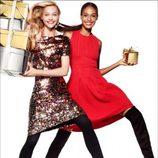 Vestidos rojos y de paillettes de la nueva campaña navideña 2014 de H&M