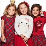 Faldas y vestidos con estampado escocés, en moda infantil, de la nueva campaña navideña 2014 de H&M
