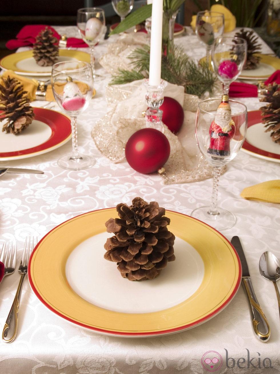 C mo decorar una mesa de navidad fotos de navidad - Como decorar la mesa de navidad ...