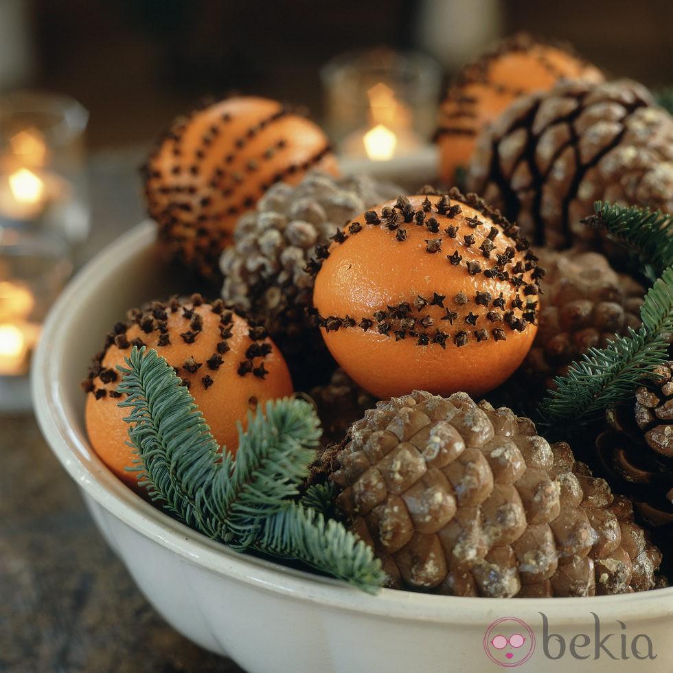 Pi as y adornos frutales para decorar la casa en navidad for Adornos para la casa