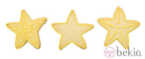 Galletas de mantequilla convertidas en estrellas de Navidad