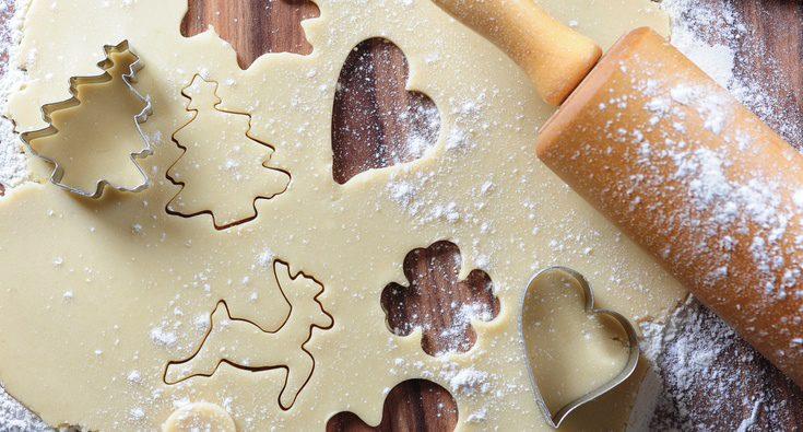 Receta para hacer galletas con formas navideñas
