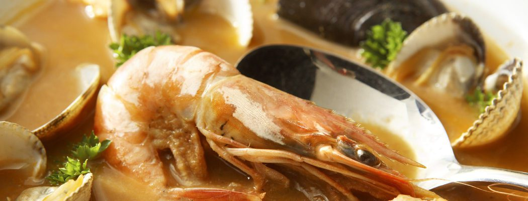 Plato navideño: Sopa de marisco