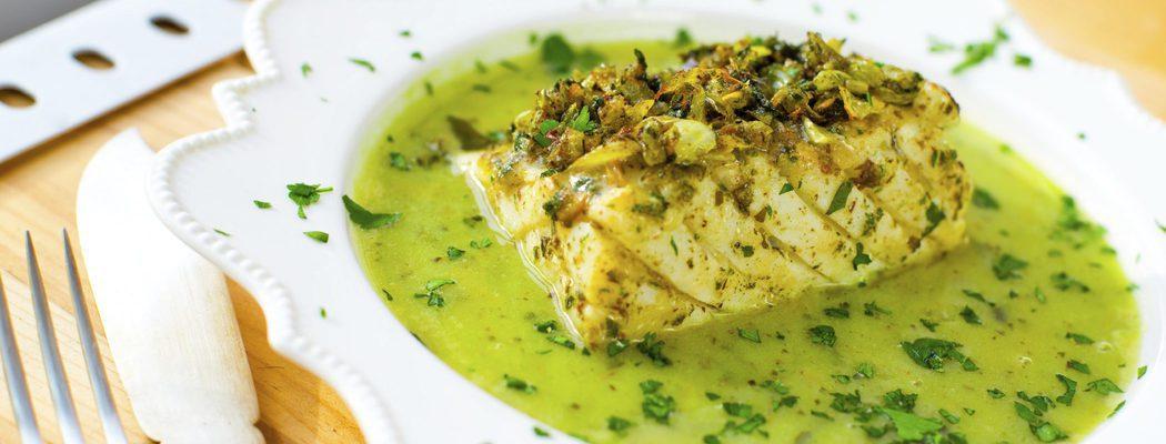 Pescados de Navidad: Congrio en salsa verde