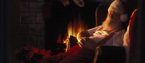 Papá Noel en su residencia