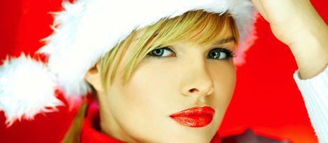 Labios rojos, una elección muy navideña