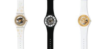 Tres modelos de relojes Swatch