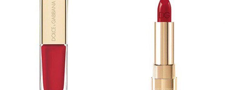 El rojo y el dorado protagonizan la edición limitada de maquillaje de Dolce & Gabbana para estas navidades