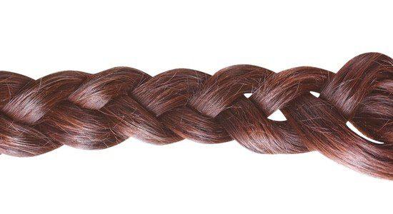 Trenza convenciona: consiste en entrelazar tres mechones de pelo