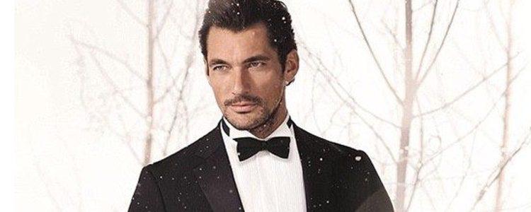 David Gandy se viste de esmoquin para recibir a la Navidad junto a Marks and Spencer