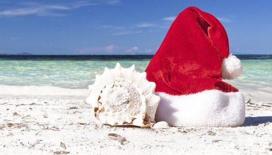 Su 'Papai Noel' tiene un vestuario mucho más ligero que el nuestro