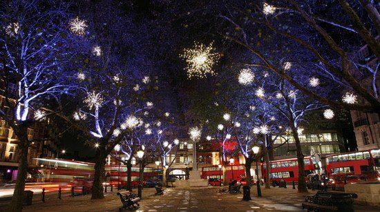 La decoración navideña londinense es una de las más espectaculares del mundo
