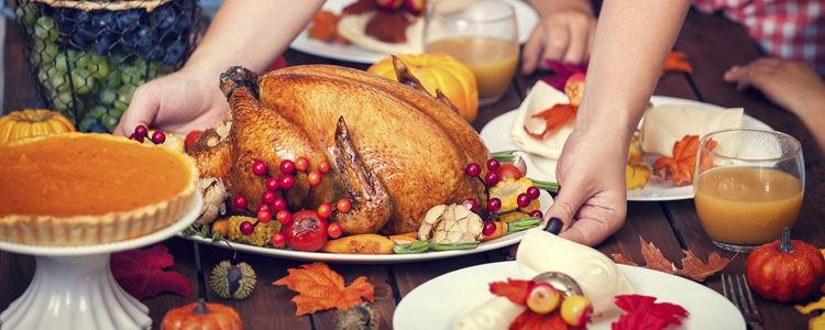 La comida de Acción de Gracias es el acto central de la festividad