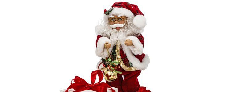 Una figura de Papá Noel también es muy habitual