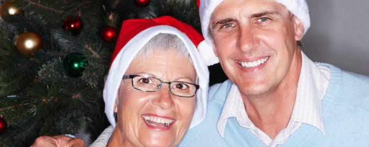 Madre e hijo en Navidad