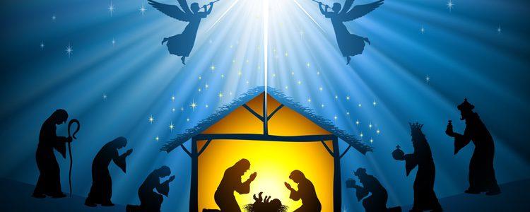 Ilustración de un belén de Navidad