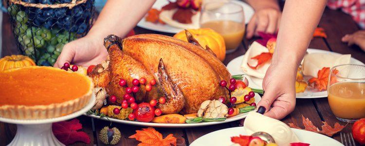 El pavo es la comida más típica del día de Acción de Gracias