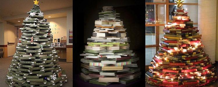 Árbol 1: Un cono con libros cerrados y tumbados