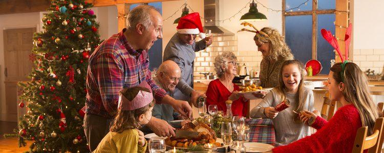 En Navidad, las cenas en familia son algo habitual