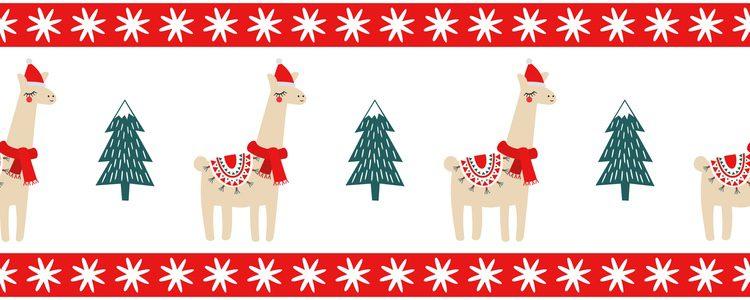 Llamas de Navidad