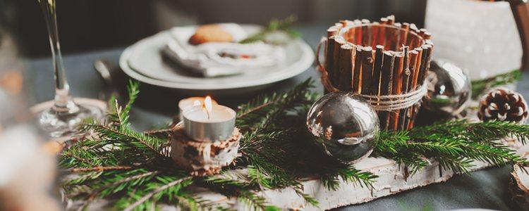 La mesa es uno de los elementos principales de las navidades