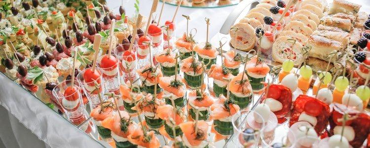 Los canapés contienen pan, por lo que se suma a las calorías de los alimentos que contiene