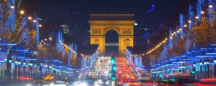 La Avenida de los Champs-Elysées en Navidad