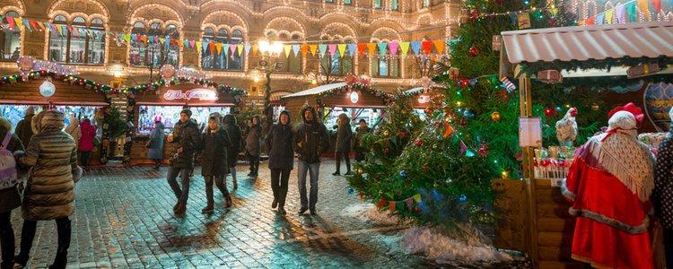 Los detalle navideños son los protagonistas de las calles de Moscú