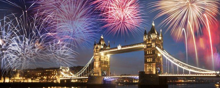El espectáculo de fuegos artificiales es ya una tradición en Londres